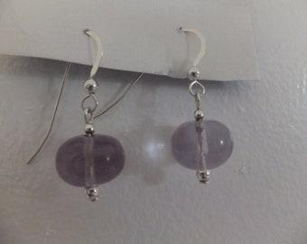 purple fluorite earrings