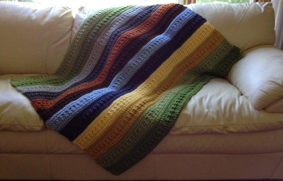 Striped Lap Throw Blanket