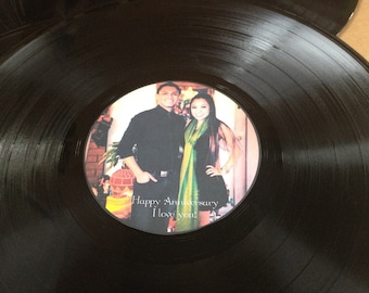 Party Guest book/ LP Vinyl Record with Personalized Center Label