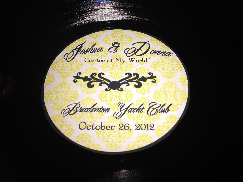 Wedding Gift Record Book: Unique Wedding Guestbook 2 LP Vinyl Record Wedding Guest