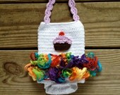 Instant Download - Crochet Petti Romper Pattern - PDF - newborn to 18 months - photography prop - cupcake - birthday