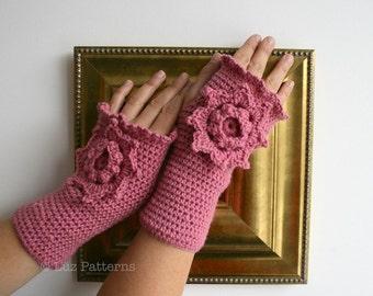 CROCHET PATTERN, fingerless gloves pattern Victorian wrist warmer crochet pattern, Vintage crochet glove pattern (121) Instant Download