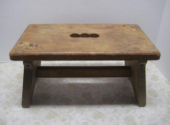 Mid Century Wooden Step Stool //  Handy Dandy Stool // Children's
