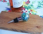 Wine Stopper in Shades of Vine Green with Lavender highlights