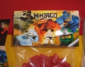Ninjago masters of spinjitzu treat bags and toppers for birthday or party favor thank you gift