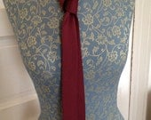 RED and black SKINNY TIE Necktie 1950s