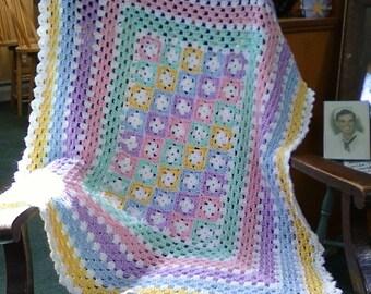 Pastel Crochet Baby Afghan