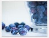 Blue Purple Kitchen Photograph, Blue Wall Decor, Blueberries, Blue Purple Wall Decor, blue photography