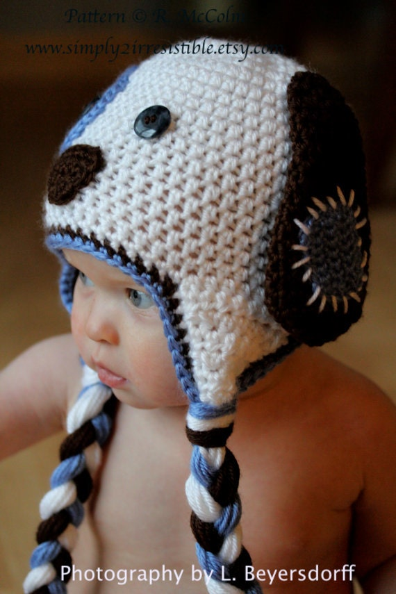 Patchy Puppy Hat Pattern Crochet Pattern 18 Beanie and