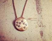 Hand Made Sagittarius Zodiac Sign Constellation Necklace Gold Constellation necklace Star Sign Charm Zodiac Charm W104