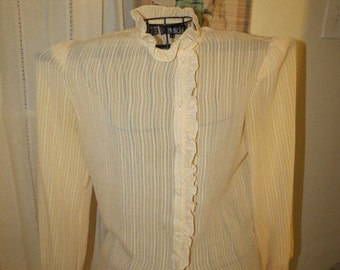 Pretty vintage cream blouse