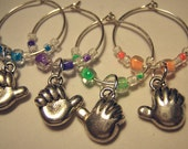 I Want To Hold Your Hand Wine Charms (Set of 4)