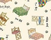 SALE - The Three Bears Collection - Chairs and Beds - Cream - Windham Fabrics