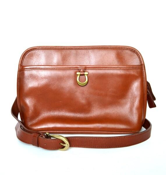 Vintage ETIENNE AIGNER Brown Leather Cross body Bag