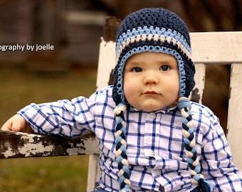 boys hat, crochet kids hat, crochet baby hat, crochet boys hat, earflap hat, crochet hat with earflaps