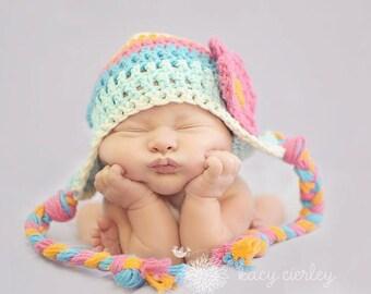 newborn hat, newborn baby hat, newborn girl hat, baby hat, baby girl hat