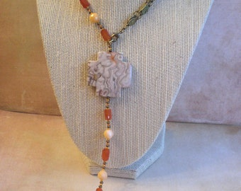 Necklace / Lariat - Cross My Heart