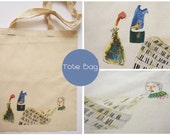 """Canvas Tote Bag with an Illustration """"piano spitter"""""""
