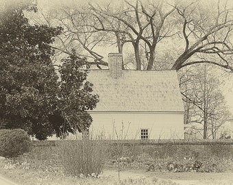 Quaint Little House - B&W Mount Vernon Photo - gift under 50 photography wall art home decor theartisangroup