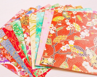 Washi Chiyogami Paper Pack for Traditional Japanese Origami Paper Project - 20 sheets