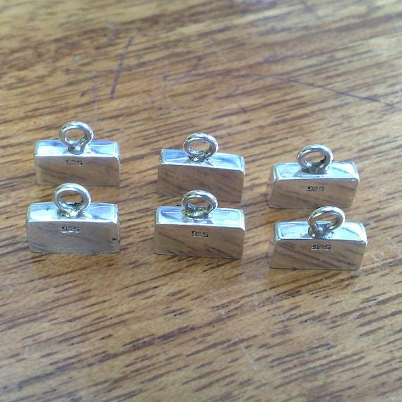 925 sterling silver rectangular endcap 6 x 10 x 2 mm for DIY bracelet price for 6 pieces endcap