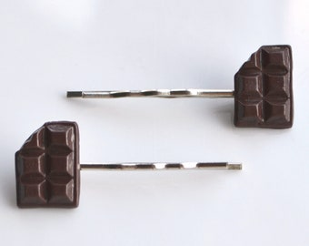 Chocolate Hair Slides, Fimo, Polymer clay