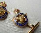 Vintage Enamel and Gilt Royal Airforce Cufflinks (1940s)