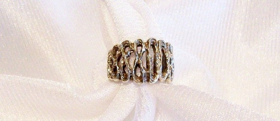 Sterling Silver Ring: Runes or Infinity Ring- Size 6 1/2 - K1007a