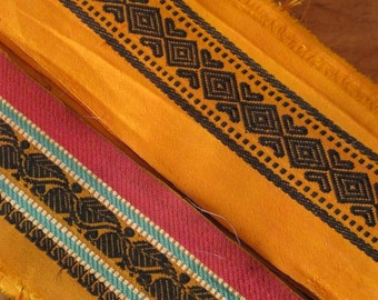 Silk Ribbon,Sari border,Sari Trim 2 colors, SR36
