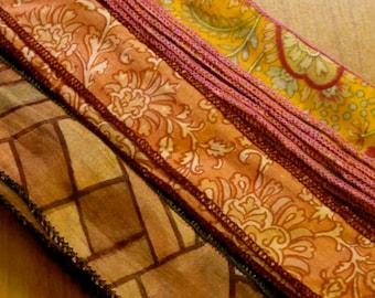 20 yards Silk Sari Ribbon, Silk Trim, H63