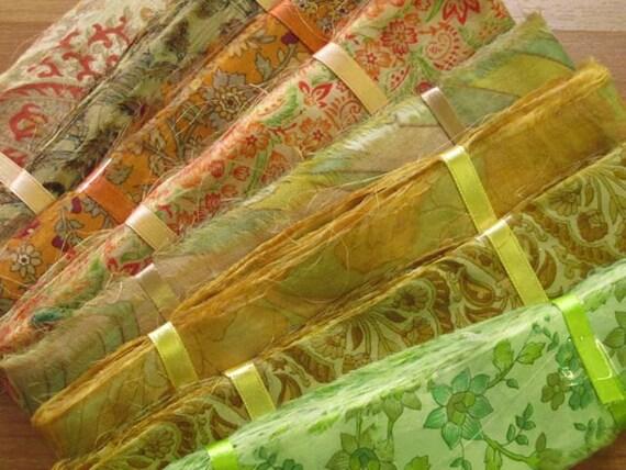 100 yards Silk Ribbon, Sari Ribbon, Sari Trim