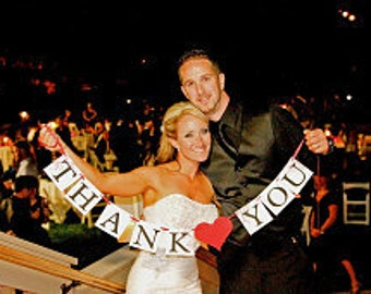 THANK YOU Wedding Banner - Wedding Decorations - Photo Props - Custom Colors - Wedding Sign -Banners