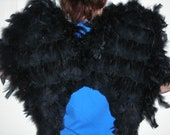 Black Angel/Bird/Swan Wings - Adult size