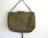 Christmas Gift For Husband Boyfriend, Vintage Messenger Bag, Mid Century Military Officer Bag, Office,  For College Kid, Canvas Vintage Bag