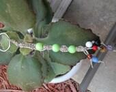 No shipping fees - hemp beaded key chain