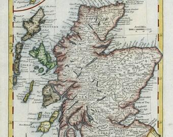 Scotland 1773. Antique Map of Scotland by Thomas Kitchin 1773 - MAP PRINT
