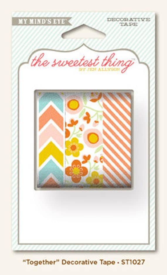 """My Mind's Eye - The Sweetest Thing - Tangerine """"Together"""" - Decorative Tape"""