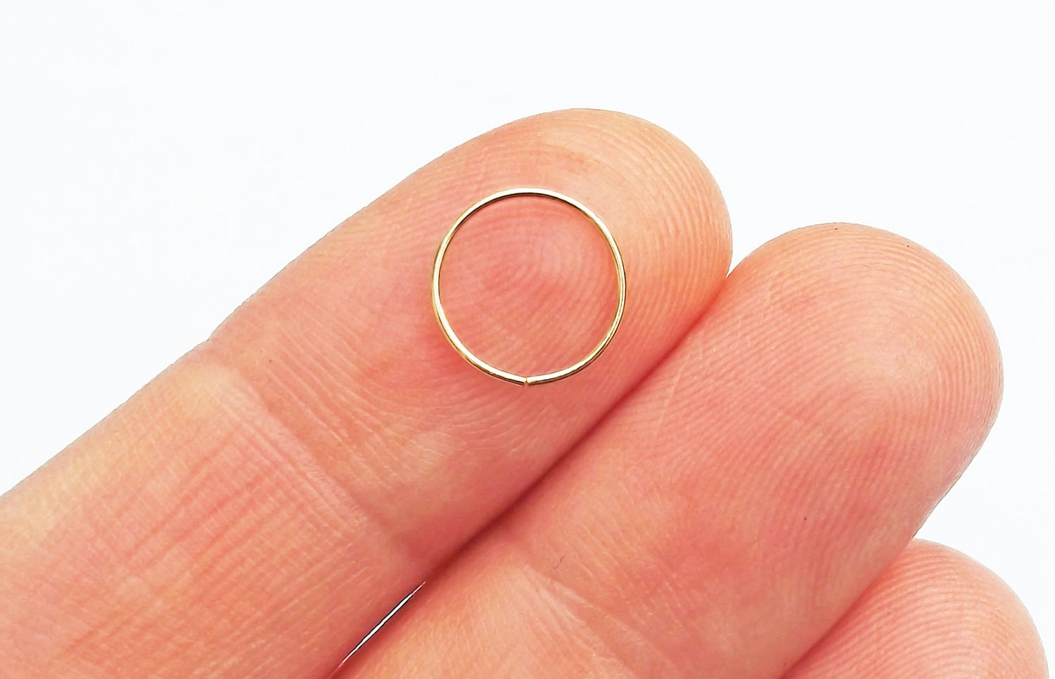 nose ring 14k gold filled thin 24 by karynhaydendesigns