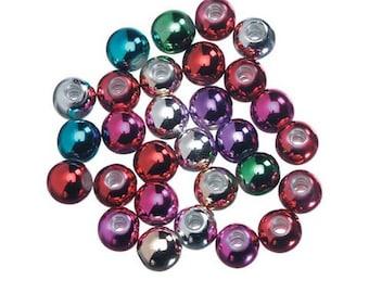 4mm Metallic Round Beads (1,380pc)