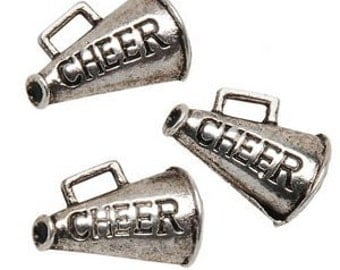 8 Cheer Metal Charms