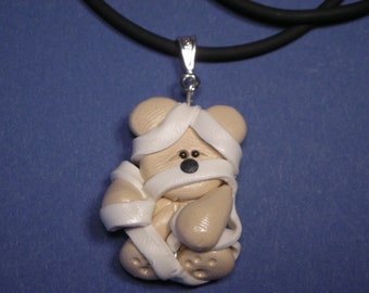 Mummy Halloween Necklace