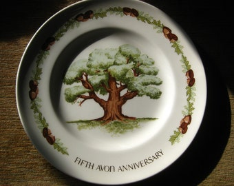 Avon Fifth Anniversary Plate The Great Oak by Enoch Wedgwood