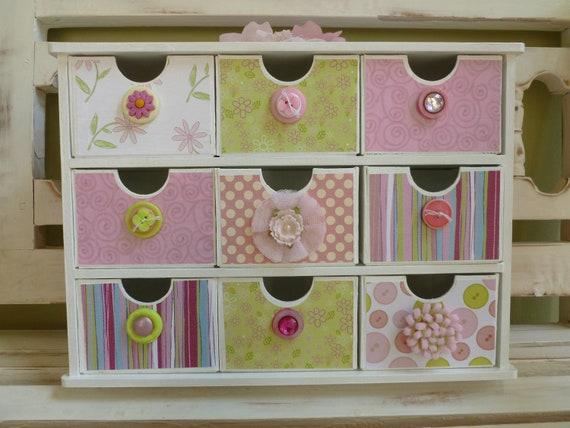 Princess Pink Jewelry Box Organizer Baby Trinkets Chest Collectibles Girl Room Vanity Flowers Birthday Gift