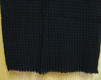 vintage rectangular 'Gap' scarf  -  black