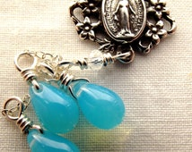 Our Lady's Sorrowful Tears Miraculous Medal Catholic Jewelry Necklace