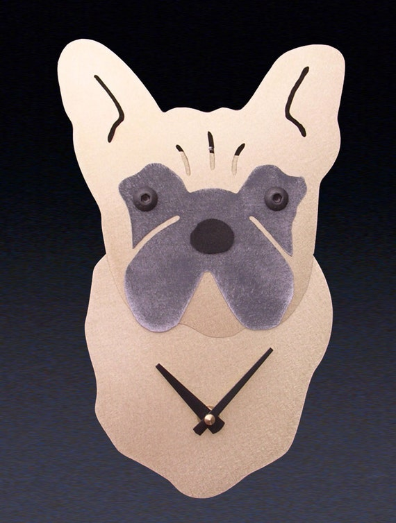 French Bulldog Dog Art - French Bulldog Clock - by Anita Edwards