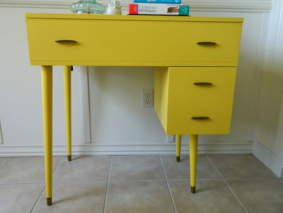 RESERVED FOR SUSAN-Mid Century Modern Sewing Desk/Table