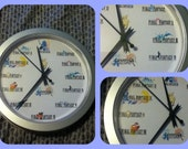 Final Fantasy wall Clock - 9 inches in diameter