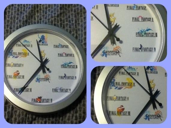 Final Fantasy wall Clock - 9 inches in diameter