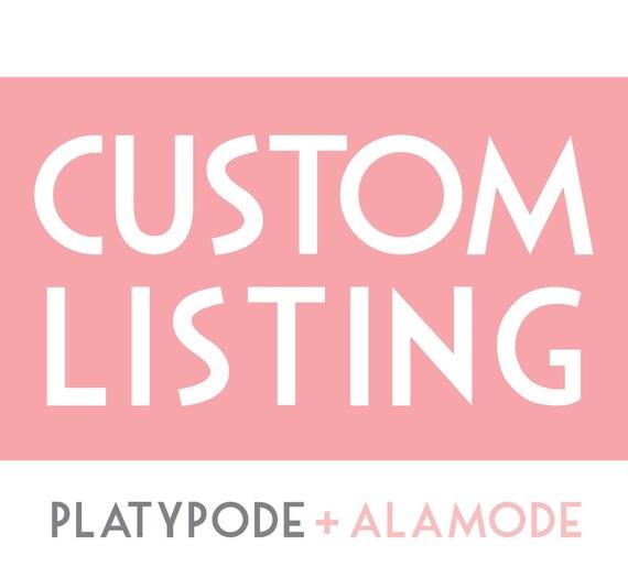 Custom Listing for Desiree